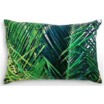 Jangala Velvet Cushion, Teal (40 x 60cm)