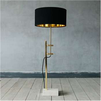 Jasper Marble And Gold Floor Lamp (H98 x W20 x D12.5cm)