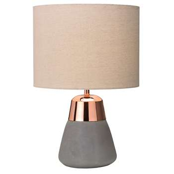 Jasper Table Lamp Copper/Biscuit (H38.5 x W26 x D26cm)
