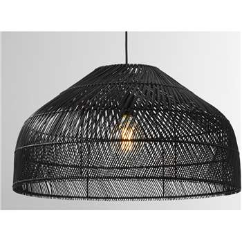 Java Lamp Shade, Extra Large, Black (H33 x W60 x D60cm)