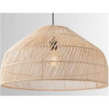Java Lamp Shade, Extra Large, Natural Rattan (H33 x W60 x D60cm)