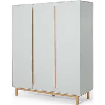 Jayden 3 Door Wardrobe, Grey & Oak (H184 x W150 x D54cm)