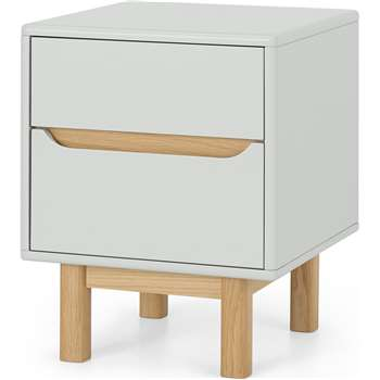 Jayden Bedside Table, Grey & Oak (H58 x W45 x D45cm)