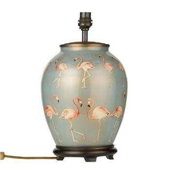 Jenny Worrall - Flamingo Lamp Base, Blue (H37 x W20 x D20cm)
