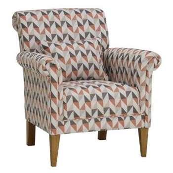 Jensen Coral Fabric Accent Chair (H85 x W75 x D81cm)