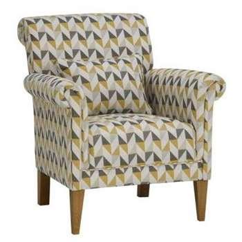 Jensen Zest Fabric Accent Chair (H85 x W75 x D81cm)