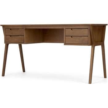 Jenson Desk, Dark Stain Oak (H76 x W145 x D56cm)