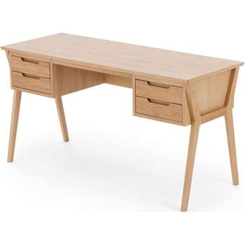 Jenson Desk, Oak (H76 x W145 x D56cm)