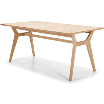 Jenson Extending Dining Table, Solid Oak (75 x 170-210cm)