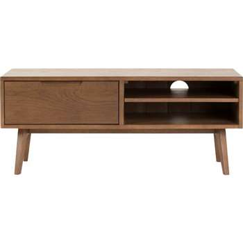 Jenson Media Unit, Dark Stain Oak (50 x 120cm)