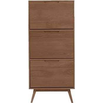 Jenson Shoe Storage Cabinet, Dark Stain Oak (145 x 65cm)