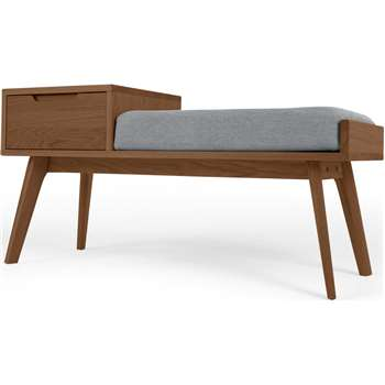 Jenson Storage Bench, Dark Stain Oak (H55 x W110 x D43.2cm)