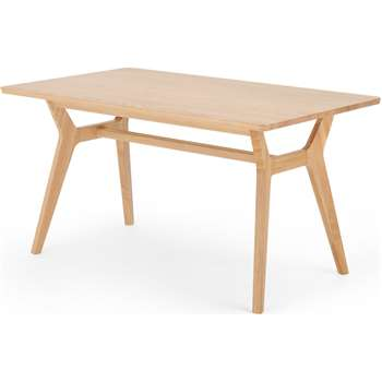 Jenson Up to 6 seat Dining Table, Solid Oak (H74 x W140 x D83cm)