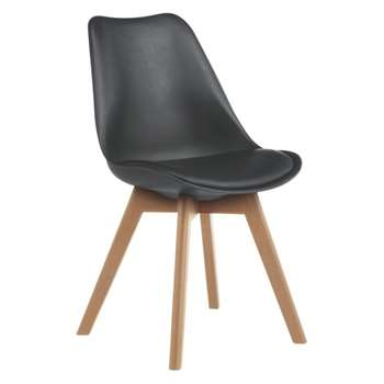 Jerry Black Dining Chair (84 x 47cm)