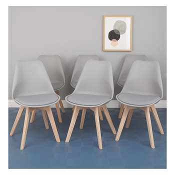 Jerry Set of 6 grey dining chairs