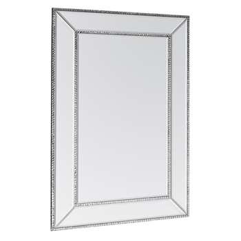 Jewelled Rectangle Mirror (H90 x W60cm)