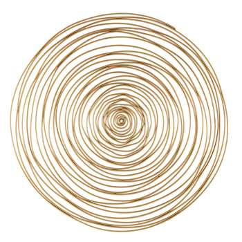 JILL Gold Metal Spiral Wall Art (91 x 91cm)