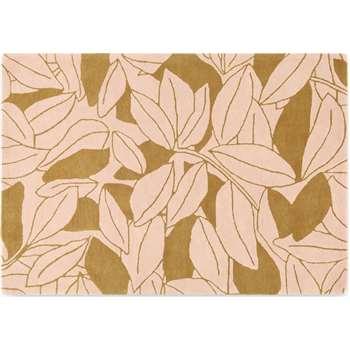 Joana Hand Tufted Wool Rug, Large, Dusty Pink & Tan (H160 x W230 x D2cm)