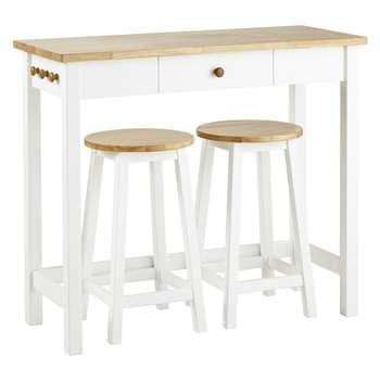 John Lewis Adler Bar Table & Stools, Cream (95 x 107cm)