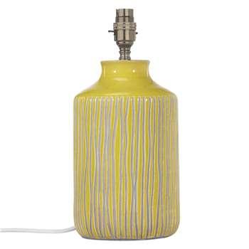 John Lewis Afra Saffron Stripe Stone Lamp Base (31 x 14cm)