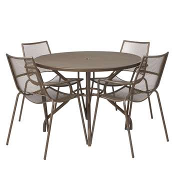 John Lewis Ala Mesh 4-Seater Table & Chairs Dining Set
