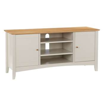 John Lewis Alba TV Stand for TVs up to 40, Soft Grey (57 x 122cm)