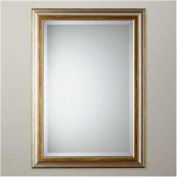 John Lewis Alessandro Mirror, Silver/Gold (H128 x W75cm)