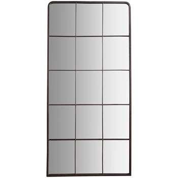 John Lewis Amandine Rectangular Mirror, Dark Grey (H127 x W61 x D2.5cm)