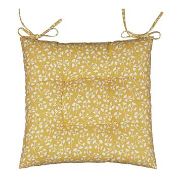 John Lewis Arly Seat Pad, Buttercup (40 x 40cm)