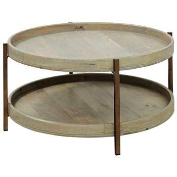 John Lewis Asha Iron Tray Coffee Table (Diameter 84cm)