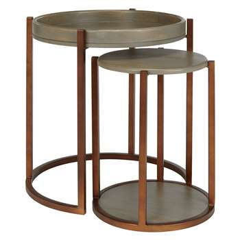 John Lewis Asha Nest Of Tables (Diameter: 54cm)