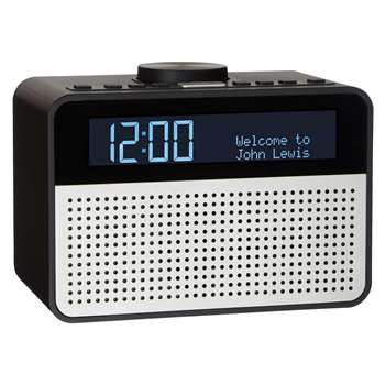 John Lewis Astro DAB+/FM Digital Clock Radio with Alarm & LCD Display, Black (11.4 x 15.7cm)