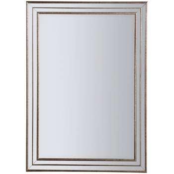 John Lewis Audrey Rectangular Mirror, Champagne (H106 x W75.5 x D3cm)