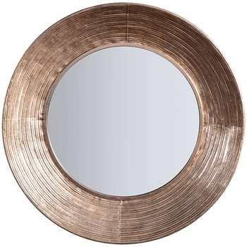John Lewis & Partners Aurelia Round Mirror, Metallic (H72 x W72 x D7cm)