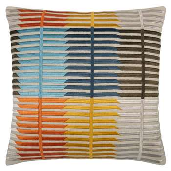 John Lewis Bandara Stripe Cushion, Multi (45 x 45cm)