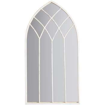 John Lewis Baptiste Arched Mirror, White (H95 x W50 x D2cm)