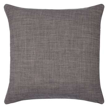 John Lewis Barathea Cushion, Steel (45 x 45cm)