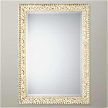 John Lewis Beatrice Mirror, Gold/White (H127 x W74cm)
