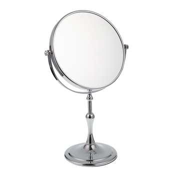 John Lewis Belgravia Stainless Steel Magnifying Pedestal Mirror