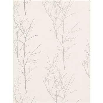 John Lewis Birch Wallpaper, Silver