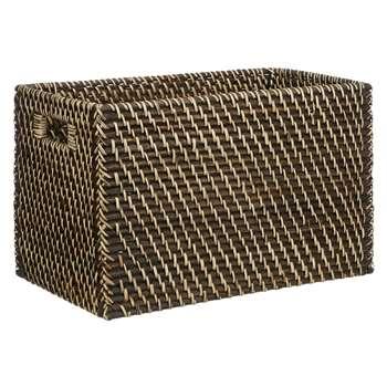 John Lewis Blackwash Rattan Basket (25 x 25cm)