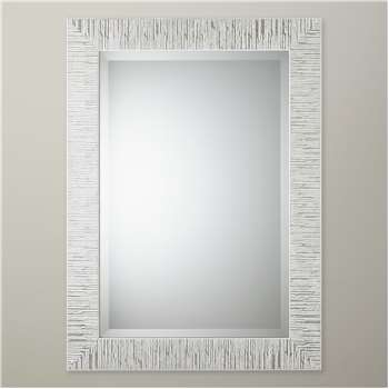 John Lewis Blanca Mirror, Silver/White (H68 x W58cm)