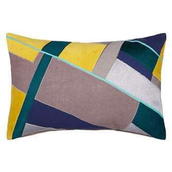 John Lewis Blocks Cushion, Spruce (30 x 50)