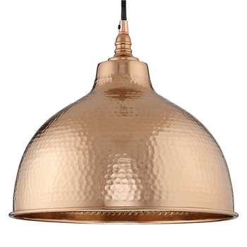 John Lewis Bolu Pendant Shade, Copper (Diameter 31cm)