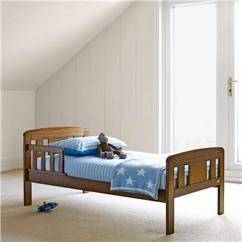 John Lewis Boris Toddler Bed, Antique Darkwood (65 x 144cm)