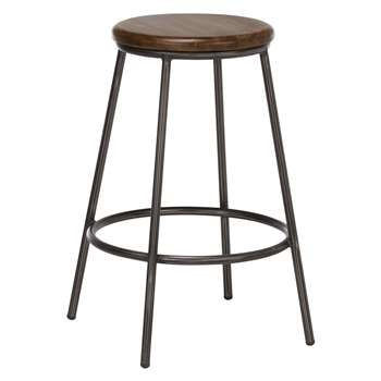 John Lewis Calia Bar Stool, Dark (65 x 40cm)