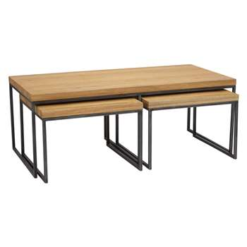 John Lewis Calia Coffee Table with Nest of 2 Tables (Width 120cm)