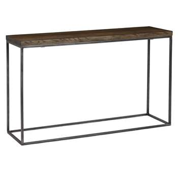 John Lewis & Partners Calia Console Table, Dark (H75 x W120 x D36cm)