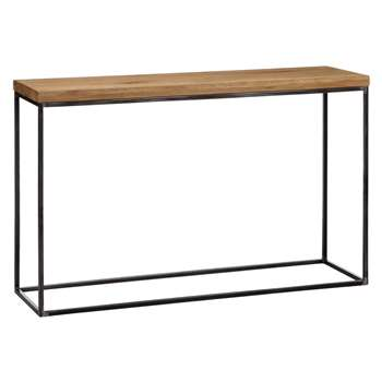 John Lewis & Partners Calia Console Table, Oak (H75 x W120 x D36cm)