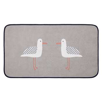 John Lewis Cheeky Gull Bath Mat - Grey 50 x 80cm